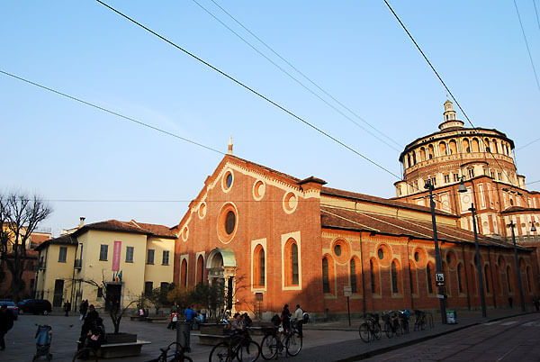 santa maria grazie01 - ミラノの宝世界遺産最後の晩餐