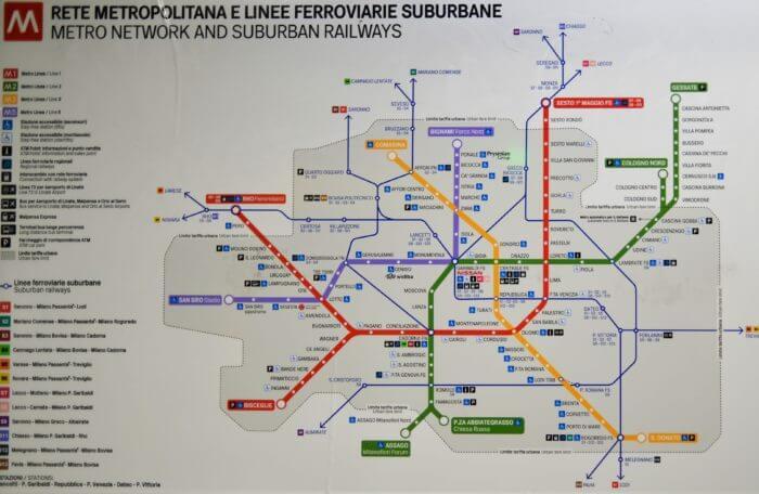 ミラノ 地下鉄 路線図