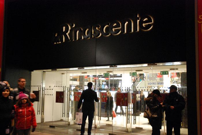 rinascente01 - ミラノ観光のショッピング、お土産のお勧めスポット