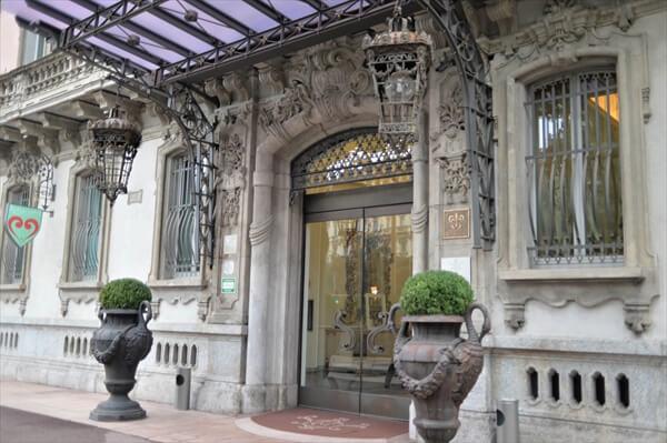 ミラノのホテル「chateau monfort」